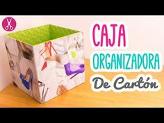 Caja Organizadora de Cartón | Cartonaje para Principiantes| Manualidades con Cartón | Catwalk - YouTube