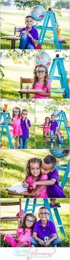 Back-2-School…The {M} Siblings! Sibling Photography» Kansas City Photographer ~ colleensalmansphotography.com