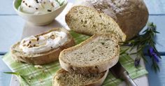 Lavender Bread with Almond Dip