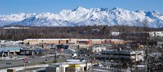Wasilla, Alaska.  This is the view we see every time we drive to town down the Palmer-Wasilla Highway.