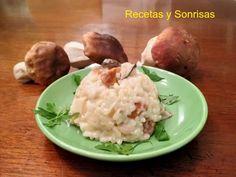 Risotto de ceps ! http://recetasysonrisas.blogspot.com.es/2013/10/risotto-de-ceps.html #food #récipes #mushrooms #risotto #rice