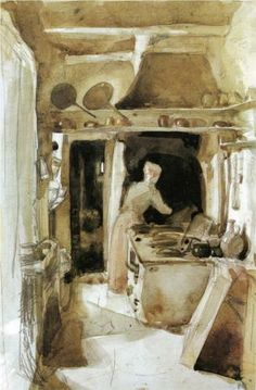 The Kitchen - James McNeill Whistler