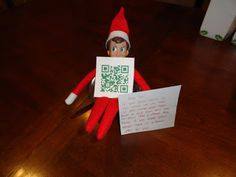 QR codes. Made a video on elfyourself.com and had the kids scan the QR code to watch it. by Melissakay