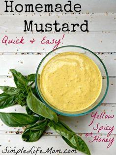 Homemade Mustard Recipe from Simple Life Mom2