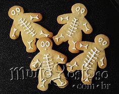Receita de Biscoito Esqueleto