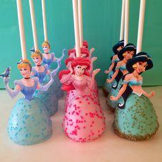 Disney princess cake pops!
