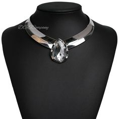Jade+Collar+Choker+Statement+Necklace+in+Silver      Item+Type:+Choker+Necklace+      Style:+Trendy+      Material:+Acrylic+      Metal+Type:+Alloy+Chain+      Type:+Link+Chain+      Length:+48.5cm+      Gender:+Women