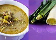 Weganie: bez glutenu - zupa porowo-kokosowa z zieloną soczewicą