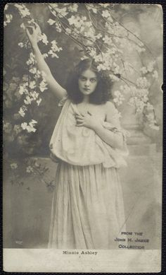 Minnie Ashley, a well-known theater actress in the early 1900s.