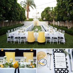 mesas en U para bodas