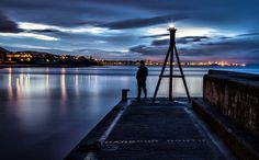 Alone at Musselburgh Harbour