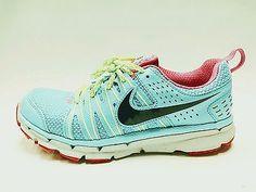 Nike Flex Trail 2 Women's Running Shoes Gamma Blue Black-Volt-Pink Size 6