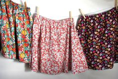 Simple Skirt pattern using London Calling cotton lawn fabrics. Designed by Sonya Philip, the pattern will be FREE from Robert Kaufman Fabrics.