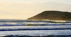 Golden morning surf