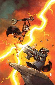 Rocket Raccoon #4 by Skottie Young