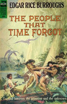 The People That Time Forgot by Edgar Rice Burroughs.  I have this exact version in shrink wrap.  Fun story.