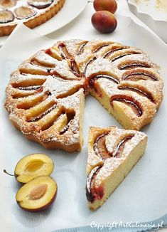Quick cake with plums (in Polish) - Szybkie ciasto ze śliwkami Delicious Cake Recipes, Cupcake Recipes, Yummy Cakes, Sweet Recipes, Cupcake Cakes, Polish Desserts, Polish Recipes, Quick Cake, Xmas Food