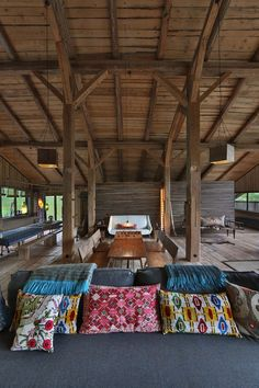 Lionel went for an East-meets-West approach to the building's construction and decoration. It is arranged over two levels, with huge eight-metre-high ceilings, and the bedrooms on the ground floor.  [i]Taken from the September 2013 issue of House & Garden.[/i]