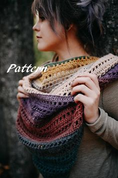 The Avery Triangle Scarf Crochet Pattern: One Size with instructions for alterations
