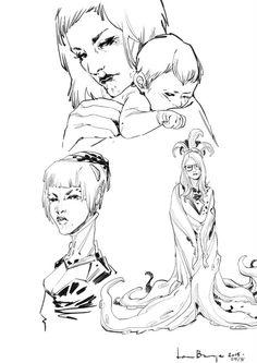 Sketches by Laura Braga