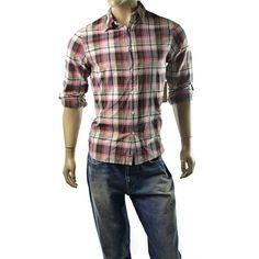 Denim & Supply Ralph Lauren Shirt Mens Utility Red & Black Plaid Shirt M NEW #DenimSupplyRalphLauren #ButtonFront
