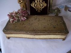 Elegant French Antique Gesso Gilded Boudoir Box Suitcases, French Vintage, French Antiques, Boudoir, Trunks, Decorative Boxes, The Originals, Elegant, Ebay