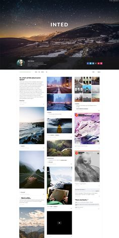 Inted - Multicolumn Tumblr Theme by the-webdesign