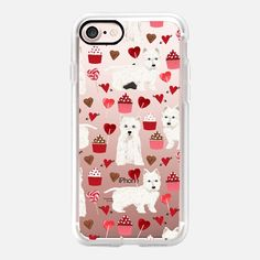 Westie valentines day cell phone love clear case for new iphone west highland terrier lovers - Classic Grip Case