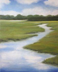 """""""Lowcountry Marsh""""  (oil)"""