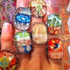 Ayala Bar rings. Love them all.