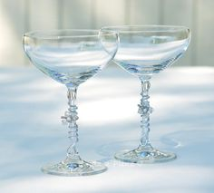 Elegant CRYSTAL Champagne Saucer Champagne Coupe by Beadz2Pleaz.  Great way to bring in the New Year!