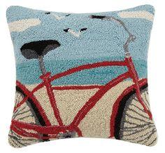 Beach Bike Hook Pillow