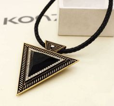 Charm Vintage Triangle Necklace Bohemia Collar - J20Style - 1