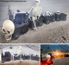Halloween Haunted Express Crate Train