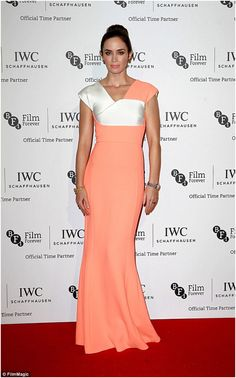 Dress Inspiration: BFI London Film Festival October 2014 Emily Blunt wearing Roland Mouret colour block dress at the IWC gala dinner for the BFI London Film Festival. http://www.pierrecarr.com/blog/2014/10/dress-inspiration-bfi-london-film-festival/ #EmilyBlunt #RolandMouret #BFILondonFilmFestival