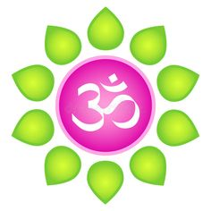 Illustration about Isolated vector om logo element. White om symbol in lotus flower - in pink circle with green leaves around on white background. Illustration of green, flowerer, ecology - 18651990 Hindu Symbols, Buddhist Symbols, List Of Mantras, Aum Tattoo, Om Art, Spiritual Pictures, Types Of Meditation, Yoga Meditation, Spiritual Eyes