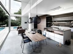A black and white kitchen is a stylish colour scheme for any modern kitchen, so check out these beautiful monochrome design ideas. Wooden Kitchen, Kitchen Decor, Kitchen Towels, Kitchen Ideas, Kitchen Furniture, Interior Minimalista, Bohemian Style Bedrooms, Cuisines Design, Kitchen Remodeling