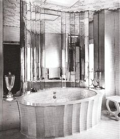 1930's Mirrored Bathroom by Oliver Hill
