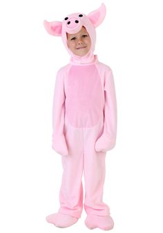 Your little one will squeal over this cute pig costume for toddlers! This exclusive costume is perfect for Halloween or plays!