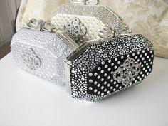 Hard Case Fabric Wedding Bag Clutch Formal by weddingswithflair