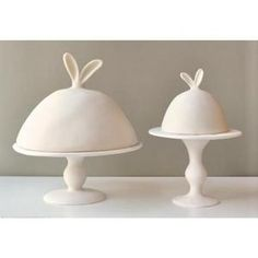 Rabbit-eared pedestals and domes by Tina Frey for $176, love these!