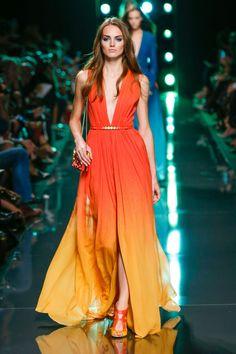 53 photos of Elie Saab at Paris Fashion Week Spring 2015.