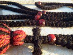 Orthodox 300 knot HORN beads pure wool russian greek monastic