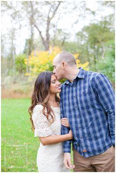 romantic Fall Engagement Session - Tina Elizabeth Photography