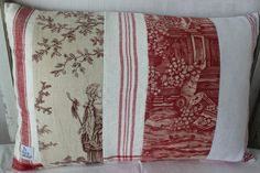 Cushion cover made of vintage fabrics and by ReDesignandReCycled, kr216.00