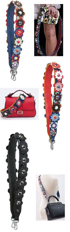 Replacement Shoulder Strap, Strap with carabiner, Flower strap, bag charm - Handbags & Purses