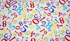 ON SALE Japanese fabric Numbers print HAKO22A por beautifulwork