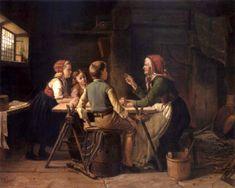 Grandma Says, Karl Julius Lorck, 1829-1882 Norwegian