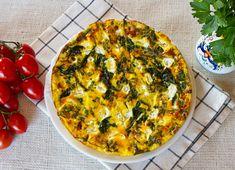 Wild Asparagus, Arugula, & Goat Cheese Frittata  #recipe