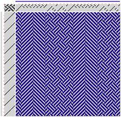 Hand Weaving Draft: Figure 3088, Atlas de 4000 Armures, Louis Serrure, 8S, 12T - Handweaving.net Hand Weaving and Draft Archive